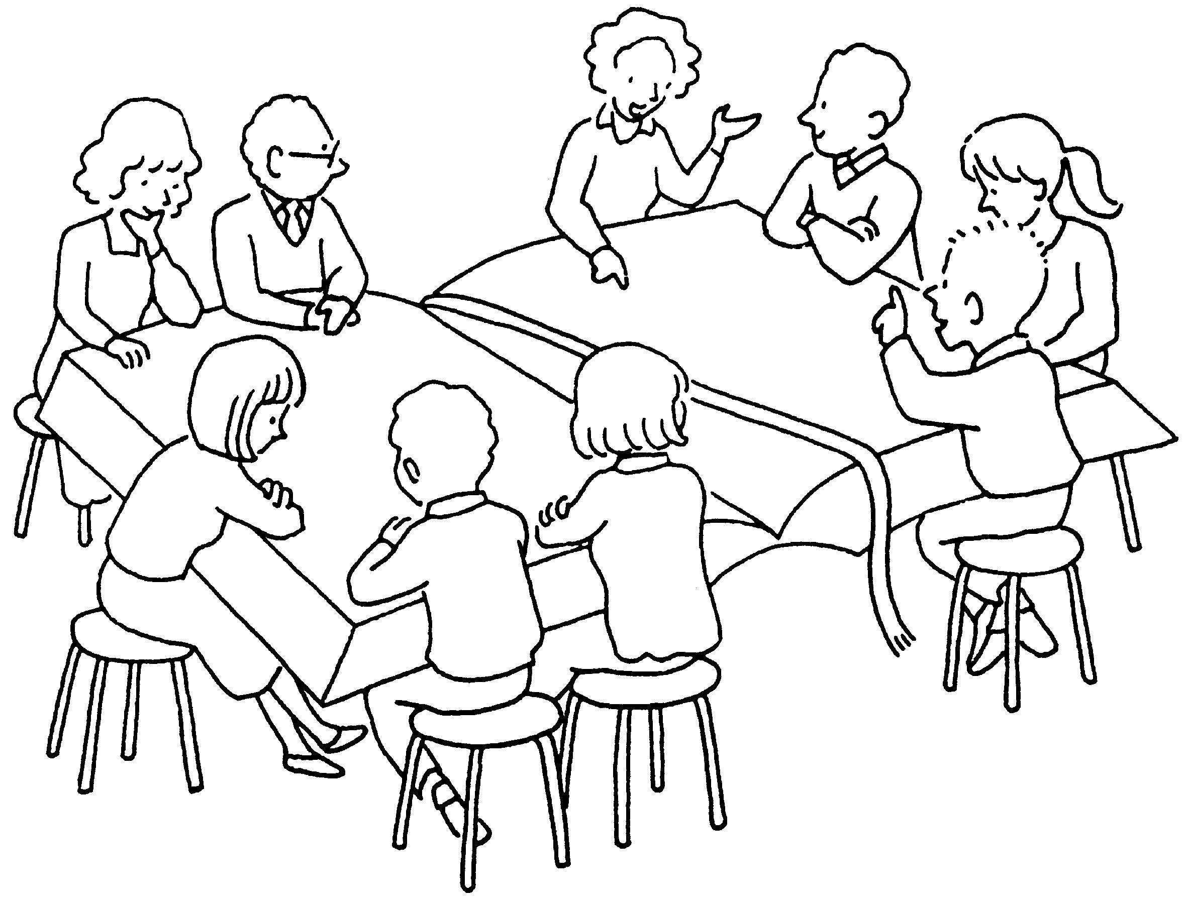 Résultats de recherche d'images pour «dessin catéchèse autour d'une table»